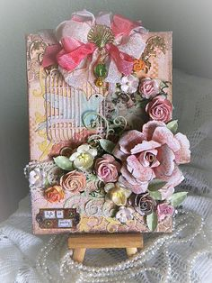 Life is Prettyhttp://glitterandbonbons.blogspot.com/ This is for sale in my Etsy shop at  https://www.etsy.com/listing/177398396/collage-altered-canvas-birdcage-bird?ref=listing-shop-header-1