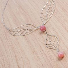Y necklace, 'Delicate Leaf' - and Opal Pendant from Peru Fall Jewelry, Jewelry Gifts, Handmade Jewelry, Wholesale Silver Jewelry, Warm Colors, Opal, Autumn Fashion, Artisan, Delicate