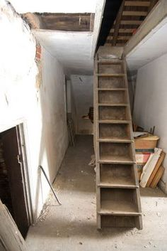 9 Fortunate Clever Tips: Attic Makeover Loft Conversions victorian attic remodel.Attic Rooms With Beams attic conversion before and after.Attic Home Kids. Attic House, Attic Closet, Attic Wardrobe, Garage Attic, Garage Stairs, Deck Stairs, Room Closet, Roof Deck, Garage House