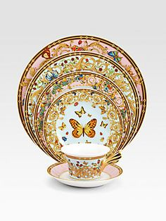 Versace Butterfly Garden Service Plate, made in Germany of porcelain
