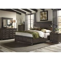 Thornwood Hills King Bedroom Group by Liberty Furniture at Hudson's Furniture