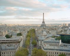 View from the Arc de Triomphe  Paris, France by Akos Major