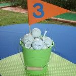 Golf Party Center Piece