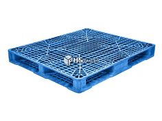 """The STK 205 is a washable and reusable, stackable pallet made from a blue, reinforced PE/PP/FM plastic blend. The materials in this model have been approved by the FDA and will not absorb any acids, solvents, odors, fats, water, or bacteria. This makes the STK 205 a great option for transporting pharmaceuticals and food. This is a one-piece pallet with 4-way entry access that measures 48"""" x 40"""" x 5.12"""" and weighs 42 lbs. Plastic Pallets, Fences, Gates, Decorative Boxes, Model, How To Make, Blue, Food, Picket Fences"""