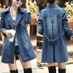 lulula provide the lady love's products for you. Denim Trench Coat, Sexy Bikini, Double Breasted, Hairstyle, Nail, Shirt Dress, Popular, Long Sleeve, Bikinis