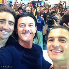 Lee Pace, Luke Evans, and Orlando Bloom at comic-con!