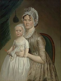 """""""Mrs Cephas Smith Jr. and Child,"""" 1803,by William Jennys"""