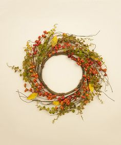Loving this Orange Berries Wreath on #zulily! #zulilyfinds