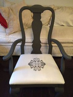 Transform garage sale finds to the awesome look you want by chalk painting their upholstery.