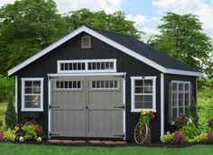 Classic Wooden Storage Sheds for PA NJ NY CT DE MD VA WV direct from the Amish in Lancaster PA. Buy small or large wooden sheds for storage direct. Large Wooden Sheds, Wooden Storage Sheds, Diy Storage Shed Plans, Wood Shed Plans, Large Sheds, Shed Building Plans, Garage Plans, Rv Storage, Barn Plans