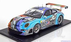 Porsche 911 (997) GT3 RSR, 24h Le Mans 2007, No.80, van Overbeck/Bergmeister/Neiman. Spark, 1/18, No.18S051. 150 EUR