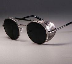 Round Metal Sunglasses, Retro Sunglasses, Men Sunglasses Fashion, Sunglasses Women, Steampunk Sunglasses, Women Brands, Eyewear, Casual Steampunk, Steampunk Men