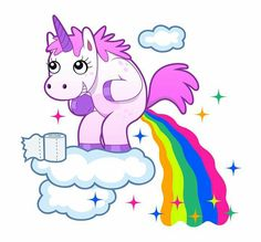 Illustration about Smiling unicorn pooping a rainbow on the sky. Illustration of poop, toilet, horned - 39768836 Unicorn Art, Rainbow Unicorn, Unicorn Poster, Unicorn Drawing, Funny Unicorn, Unicornios Wallpaper, Fairytale Fantasies, Creative Kids, Cute Drawings