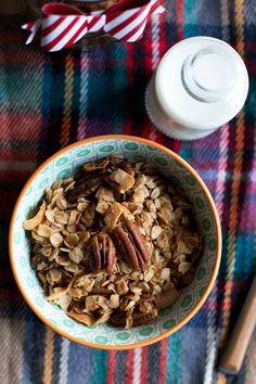 Butter Pecan Granola   Save Print The classic pairing of butter and pecans in a granola! Author: Cindy Ingredients 3 cups rolled oats 1 cup pecans 1 cup unsweetened coconut flakes ¼ teaspoon kosher salt 1 teaspoon cinnamon ¾ cup maple syrup ½ cup unsalted butter 1 teaspoon vanilla Instructions Preheat the oven to 325ºF...Read More »