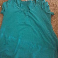 Aqua blue shirt T shirt material aqua blue shirt Tops Tees - Short Sleeve