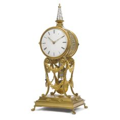 J. H. Borel, London A GILT BRASS MUSICAL AUTOMATON TABLE CLOCK MADE FOR THE CHINESE MARKET CIRCA 1780
