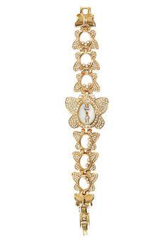 Geneva Elegant Rose Tone Butterfly Rhinestone-accented Bracelet Watch Geneva Watches, Bracelet Watch, Beaded Bracelets, Butterfly, Elegant, Diamond, Rose, Jewelry, Classy