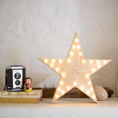 Party Illuminations Wooden Star Light