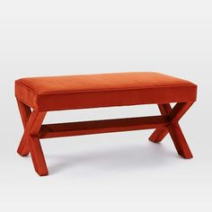 Cross Base Upholstered Bench | west elm
