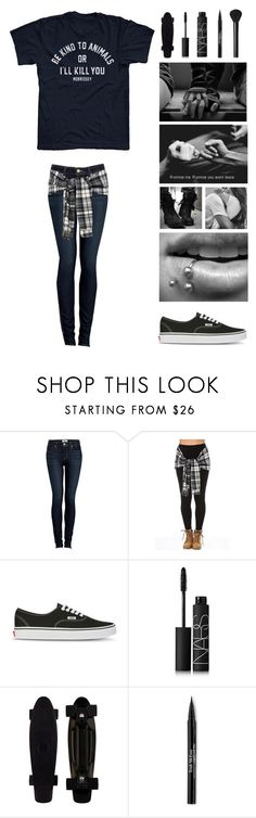 """""""QOTD - what is the farthest you have traveled for a field trip?"""" by michytherockerplatypus ❤ liked on Polyvore featuring Paige Denim, Vans, NARS Cosmetics and Trish McEvoy"""