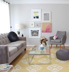 West Elm Andalusia rug, martini side table. Urban outfitters Modern Chair