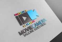 Movie Camera Logo by Josuf Media on @creativemarket