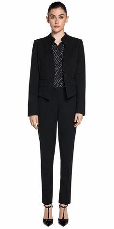 Wear to Work | Layered Collarless Jacket