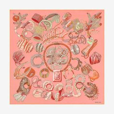 bc17f42b288c Hermès - Bracelets de Lumière, signé Annie Faivre Scarf Design, Silk  Scarves, Hermes