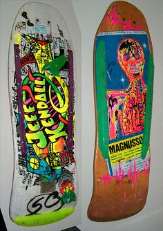 80'S Skateboard | ... are my 2 old decks both originals from he 80 s santa cruz jeff kendall