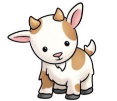 Clip Art Baby Goat Clipart - Clipart Suggest Cute Animal Clipart, Cute Cartoon Animals, Cute Clipart, Baby Animals, Cute Animals, Cute Animal Drawings, Kawaii Drawings, Easy Drawings, Goat Cartoon