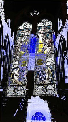 Window in Ludlow Church, Shropshire, England.