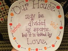 House divided plate