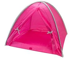 """Doll Tent in Hot Pink & Silver Trim, Fits 18"""" American Dolls & More! 18 Inch Doll Camping Tent in Pink & Silver Sophia's http://smile.amazon.com/dp/B00KGDDXR8/ref=cm_sw_r_pi_dp_1iEjvb0C65NCX"""