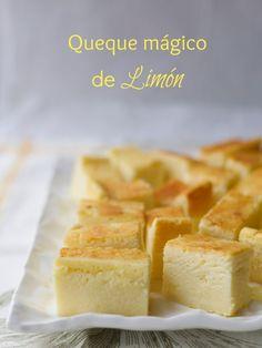 Queque mágico de limón / Magic Lemon cake   En mi cocina hoy