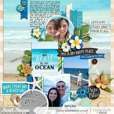 Love-the-Beach- by Stacia Hall - Great Outdoors: Oasis by Kristin Cronin-Barrow;  Template Set 199 by Cindy Schneider; Custom Font
