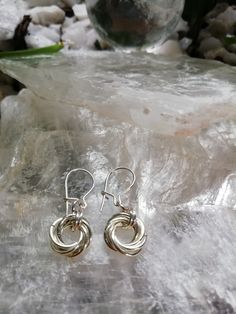 925 Silver, Silver Jewelry, Silver Rings, Sterling Silver, Silver Drop Earrings, Hoop Earrings, Simple Earrings, Chainmaille, Earrings Handmade