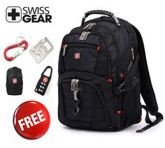 Genuine Swissgear laptop backpack schoolbag  15.6  17 inch laptop bag wenger 8112 with great gifes $46.80