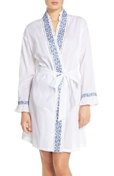 Eileen West Embroidered Cotton Robe available at #Nordstrom