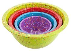 Zak confetti bowls, $34. Reminds me of the big popcorn bowl we had when I was a kid. <3