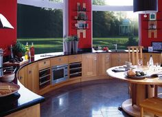 love the light and like the flow        justbesplendid:    round kitchen