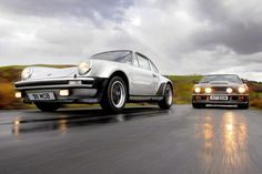 1975 Porsche 911 Turbo vs. 1977 Aston Martin V8 Vantage - Supercars of the 1970s
