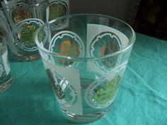 Hi Ball Glassware Barware Gold and White by mimishomefashions