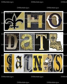 New Orleans Saints Who Dat Framed Alphabet Photo Art Nfl Saints, New Orleans Saints Football, Football Love, Football Season, Alphabet Photos, Who Dat, All Things New, Lsu Tigers, Art Design