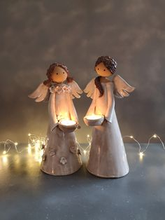 Light angel available in my shop at www. Dom Bosco, Pottery Angels, Cute Christmas Decorations, Ceramic Angels, Fabric Coasters, Bridal Musings, Dry Clay, Cold Porcelain, Clay Projects