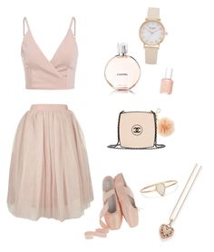 """Untitled #5"" by kolesova-nastya on Polyvore featuring Topshop, Essie, Chanel, Michael Kors, Catbird and Thomas Sabo"