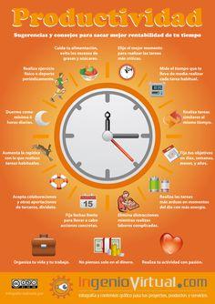 ingeniovirtual.com - Infografía con algunas sugerencias para aumentar el rendimiento y la productividad en tus tareas.