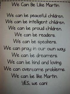 Chalk Talk: A Kindergarten Blog: MLK