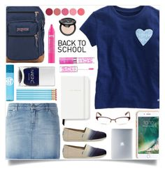 """""""Untitled #1101"""" by liska1986 ❤ liked on Polyvore featuring Vineyard Vines, Givenchy, TOMS, JanSport, Nails Inc., Kate Spade, Griffin, Incase, Maybelline and Kjaer Weis"""