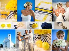Blue and Yellow Wedding