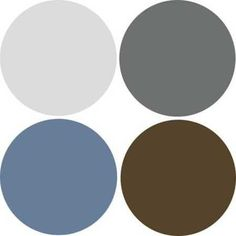 blue brown and cream color scheme | ... Design, 9 Decor and Paint Color Schemes that Include Gray Color